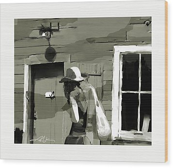 Wood Print featuring the painting Coming Home by Bob Salo