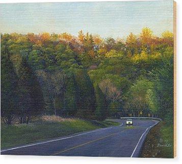Coming Home Wood Print by David Xiaoping Xu