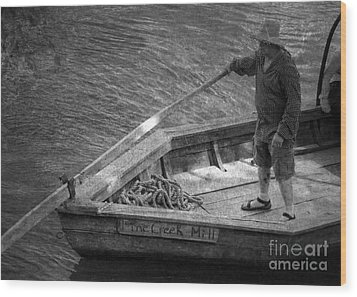Wood Print featuring the photograph Coming Into Port by Pete Hellmann