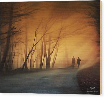 Coming Together Wood Print by Pedro L Gili