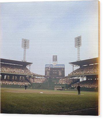 Comiskey Park Photo From The Outfield Wood Print by Retro Images Archive