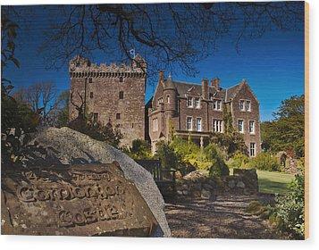 Comlongon Castle Wood Print