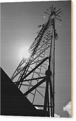 Comm Tower Wood Print by Amar Sheow