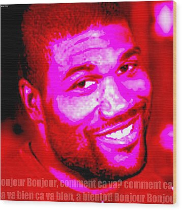 Comment Ca Va Rampage Jackson Wood Print by Greg Hoey