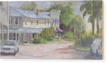 Commerce Street Apalach Wood Print by Susan Richardson