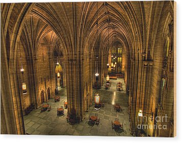 Commons Room Cathedral Of Learning University Of Pittsburgh Wood Print by Amy Cicconi