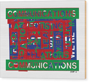 Communications Breakdown Wood Print by Agustin Goba