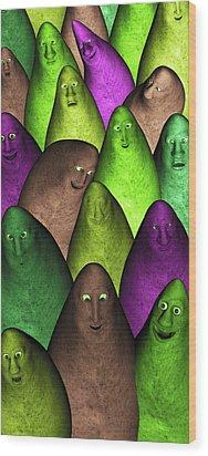 Wood Print featuring the digital art Community 2 by Gabiw Art