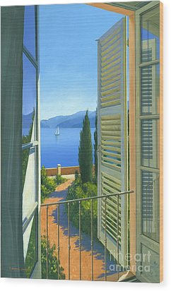 Como View Wood Print by Michael Swanson