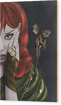 Companions Wood Print by Kate Black