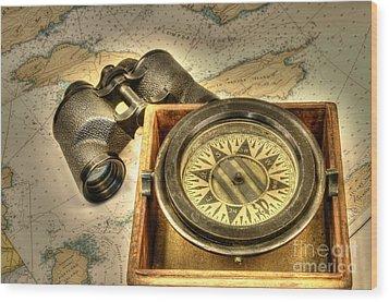 Compass 1 Wood Print