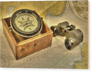 Compass 2 Wood Print