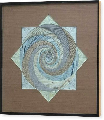 Wood Print featuring the mixed media Compass Headings by Ron Davidson