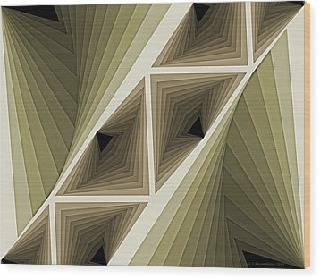 Composition 132 Wood Print by Terry Reynoldson