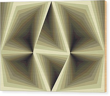 Composition 192 Wood Print by Terry Reynoldson