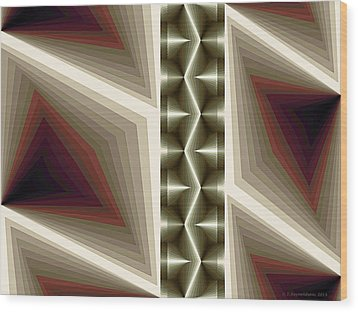 Composition 235 Wood Print by Terry Reynoldson
