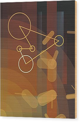Composition 50 Wood Print by Terry Reynoldson