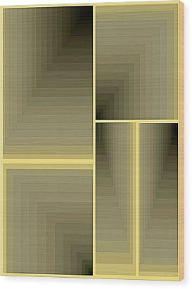 Composition 64 Wood Print by Terry Reynoldson