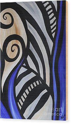 Composition Wood Print by Eva-Maria Becker