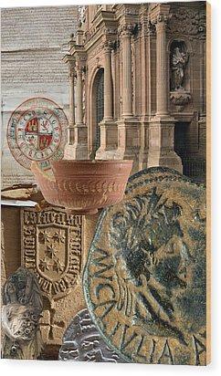 Composition For Poster Xiv Jornadas De Estudios Calagurritanos Wood Print by RicardMN Photography