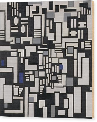 Composition Ix Wood Print by Theo Van Doesburg