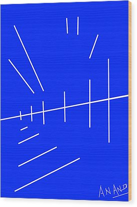 Composition-p2 Wood Print by Anand Swaroop Manchiraju