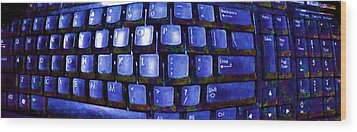 Computer Keyboard  Wood Print by Dan Twyman