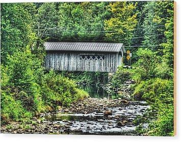 Comstock Covered Bridge Wood Print