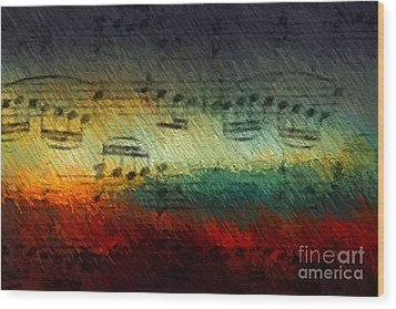 Wood Print featuring the digital art Con Fuoco by Lon Chaffin