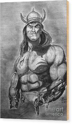 Conan The Barbarian Wood Print by Bill Richards