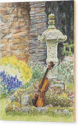Concert Dans Le Jardin Wood Print by Kate Sumners