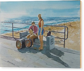 Concert In The Sun To An Audience Of One Wood Print by Debbie Lewis