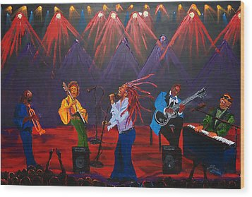 Concert Of All Concerts Wood Print by Portland Art Creations