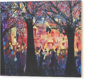 Concert On The Mall Wood Print by Leela Payne