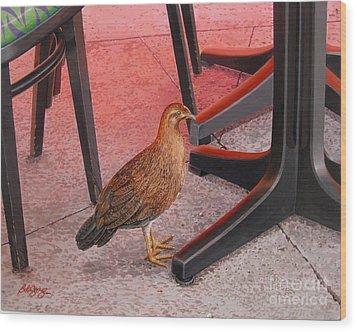 Conch Chicken Wood Print by Bob  George