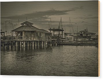 Conch House Marina Wood Print