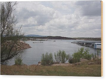 Wood Print featuring the photograph Conchas Dam by Sheri Keith