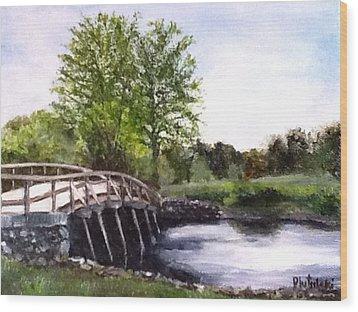 Concord Bridge Wood Print