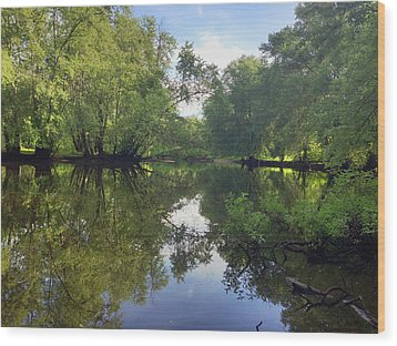 Concord River Wood Print