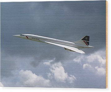 Concorde 01 Wood Print by Paul Gulliver