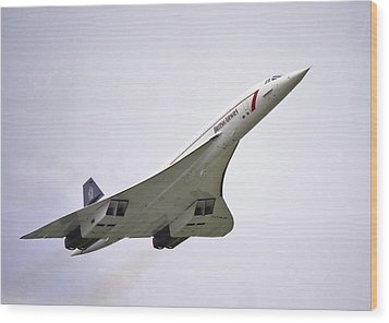 Concorde 03 Wood Print by Paul Gulliver