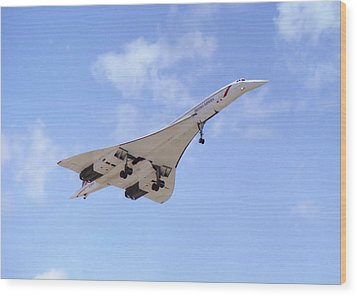 Concorde 04 Wood Print by Paul Gulliver