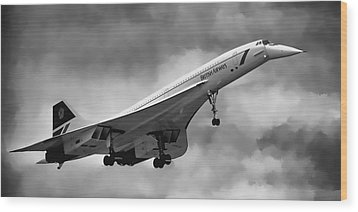 Concorde Supersonic Transport S S T Wood Print