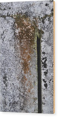 Concrete Abstract - Natures Beauty Wood Print