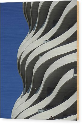 Concrete Waves Wood Print