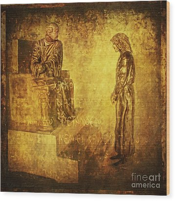 Condemned Via Dolorosa1 Wood Print by Lianne Schneider