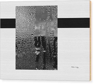 Condensed Window Wood Print by Xoanxo Cespon
