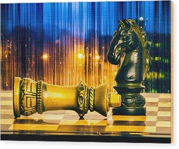 Condescending Knight Wood Print by Bob Orsillo