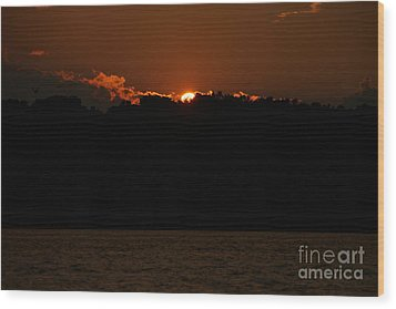 Conesus Lake At Dusk Wood Print by Steve Clough