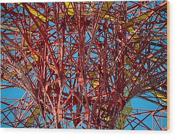 Coney Island Abstract Expressionist Wood Print